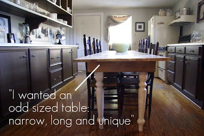 Long And Narrow Kitchen Table For Odd Space