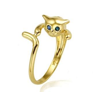 THE GOLD CAT: [GOLD] Mini shy cat ring