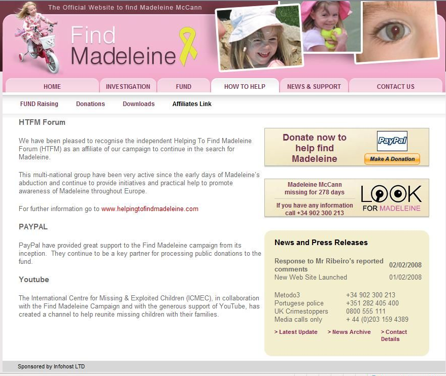 The Find Madeleine Fund HTFMaffiliates