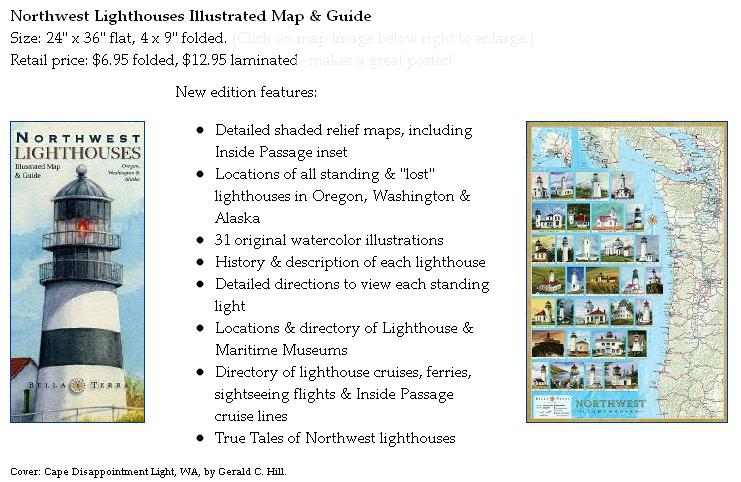 Lighthouses In Oregon Map.Bella Terra Adventures In Map Publishing New Northwest Lighthouses