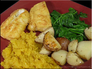 cod dinner with potatoes and squash cooked in foil packets