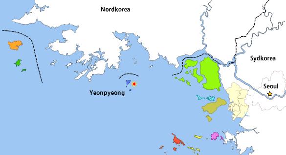 Granateld mellan nord och sydkorea