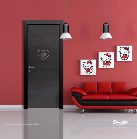 Hello Kitty Point Hello Kitty In Casa Le Porte Per Le Camerette