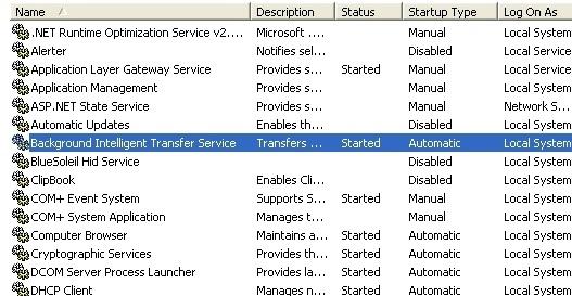 Background Intelligent Transfer Service ~ Slow PC Texpert