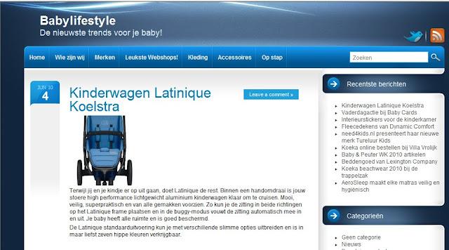 Babylifestyle Koelstra kinderwagen Latinique