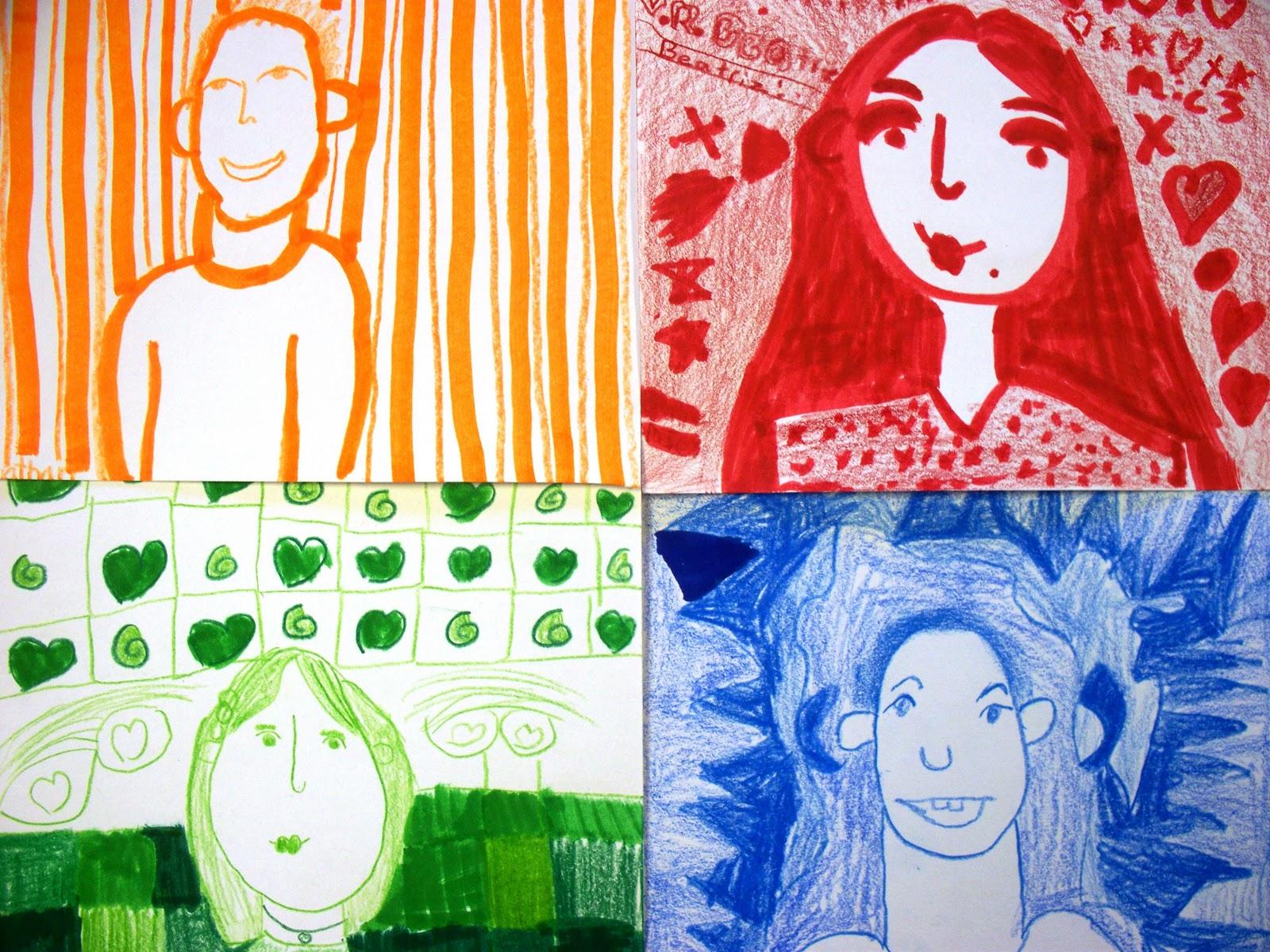 Creating Art Monochromatic Self Portraits