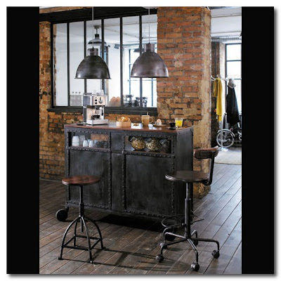 designers block maisons du monde goes industrial. Black Bedroom Furniture Sets. Home Design Ideas