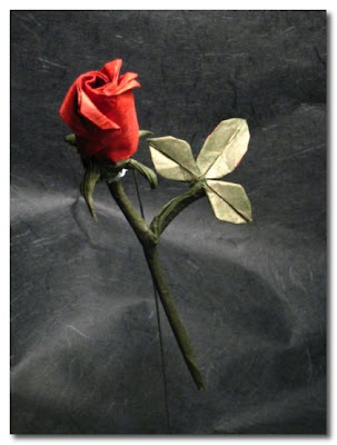 How To Make Origami Rose. rose is also origami.