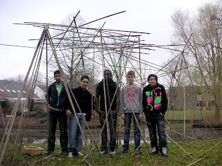 partij bamboe stokken