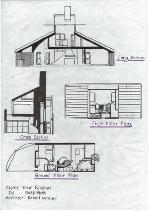 y Vanna Venturi House Plan Section Elevation on fisher house elevation, vanna venturi interior, kaufmann house elevation, eames house elevation, vanna venturi sections dimensions, tugendhat house elevation,