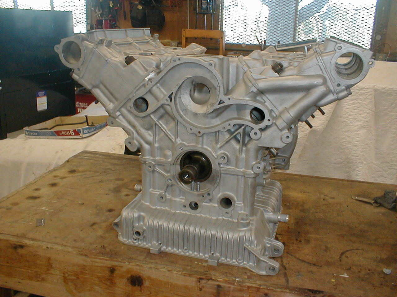 Tamerlane's Thoughts: My engine block coffee table almost ...