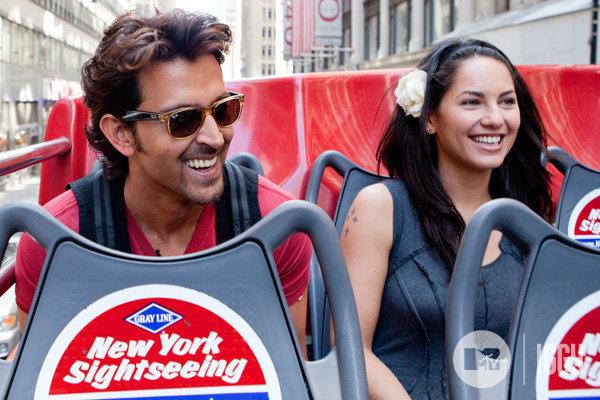 testing: Hrithik Roshan and Barbara Mori tour New York City