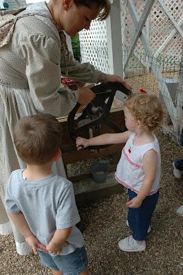 children working corn mill