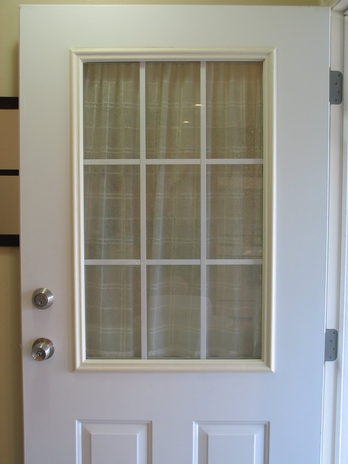 Doors Windows: This Thrifty House: Spray Painted Door Trim