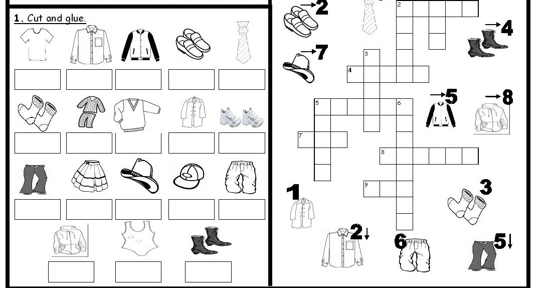 My English Printables: Pictioactivities: clothes