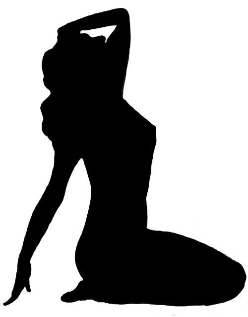 clip art girl silhouette - photo #30