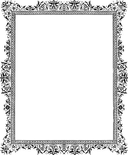 free black and white clip art borders - photo #44