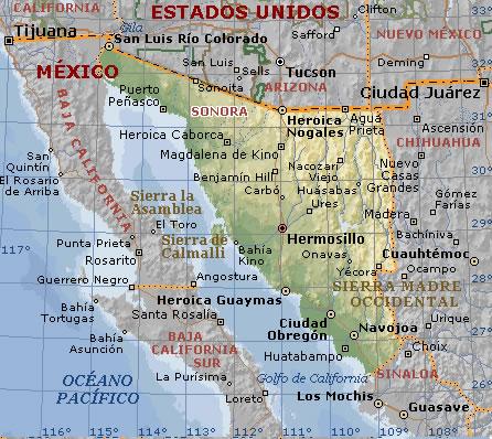 Rio Colorado Mapa Fisico.New Border Crossing Opens In Mexico