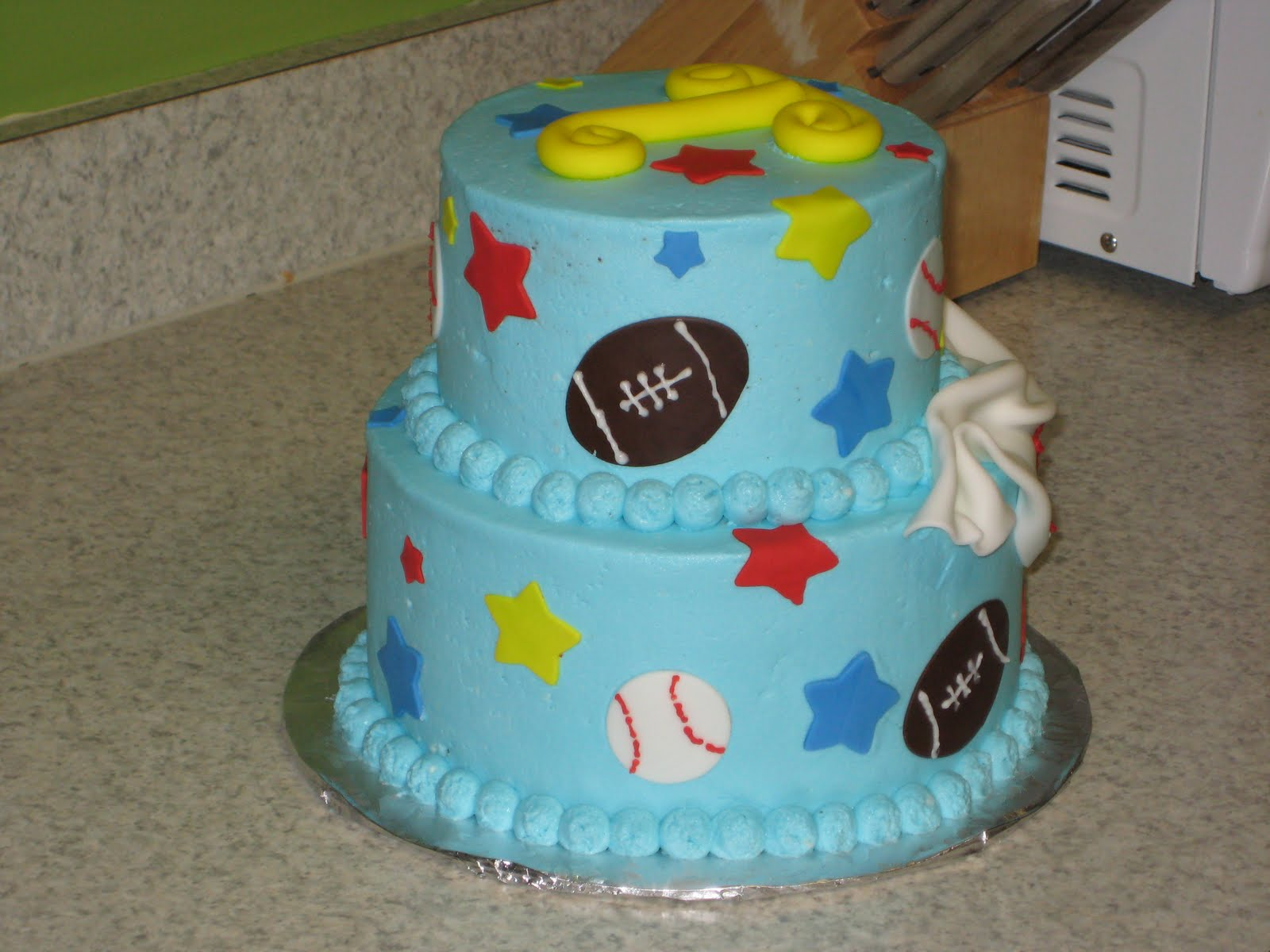 For The Love Of Cake 1st Birthday Sports Theme Style