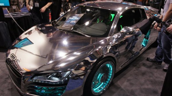 Introducing Tron Inspired Audi A8 Engineered By Pimp My Ride Vehicular Tricksters West Coast Customs This Version Of The R8 However Isn T Quite So Subtle