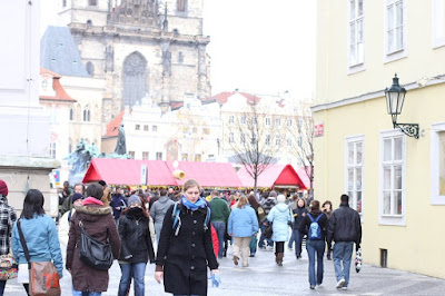 Prague - Old Town square - Easter