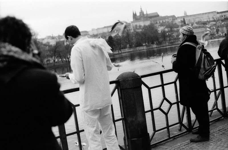 Making a short movie with a view on Prague Castle
