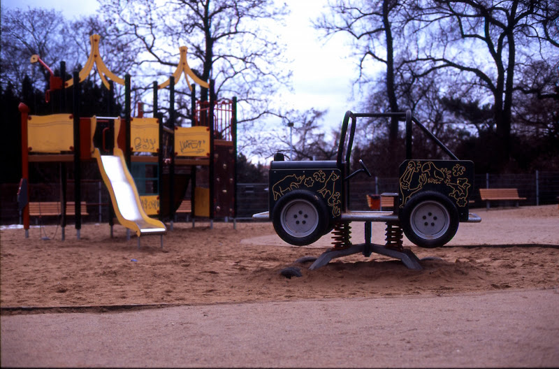 Car at the playground, Prague