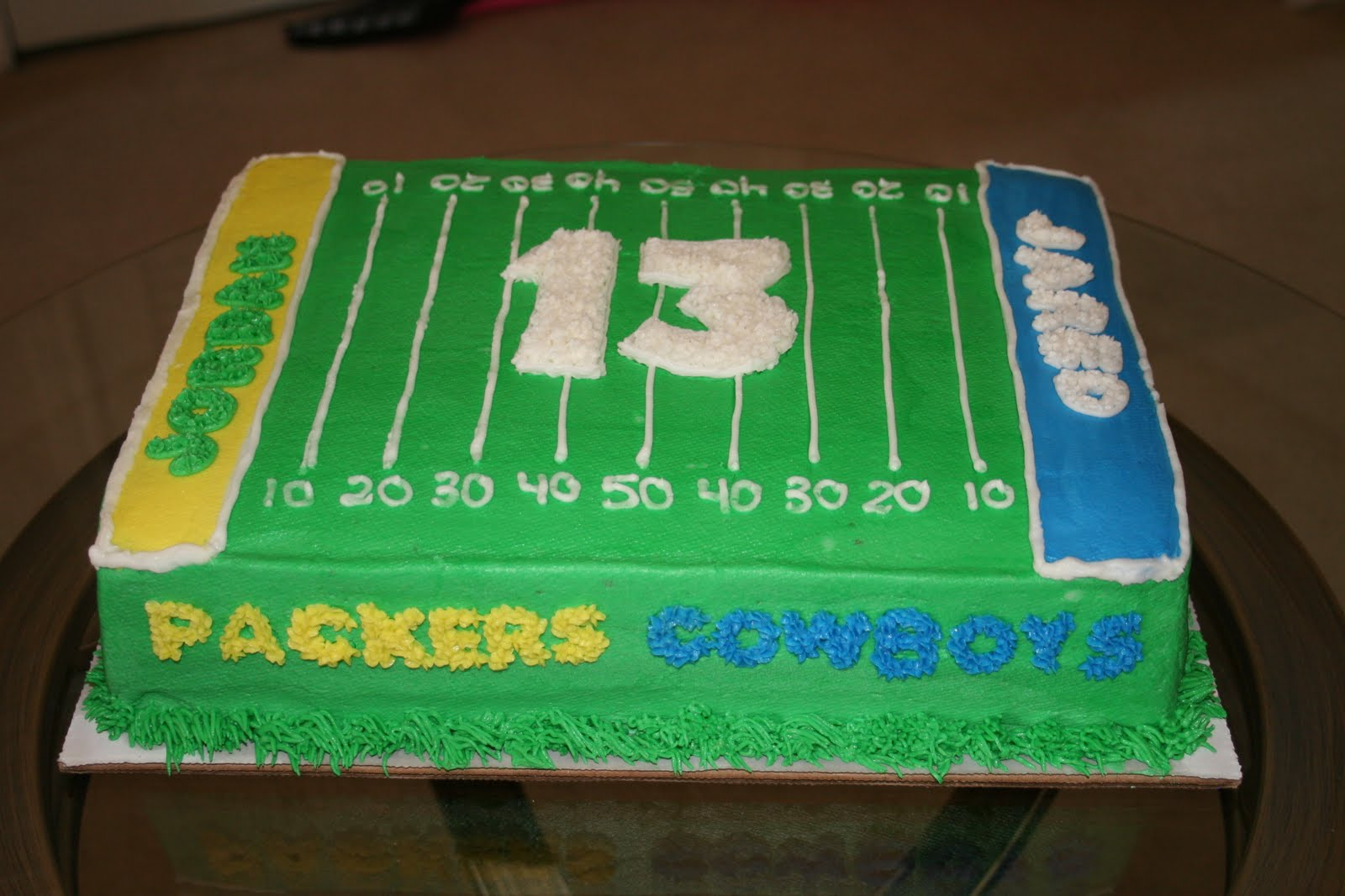 Rachel S Creative Cakes Football Field Cake
