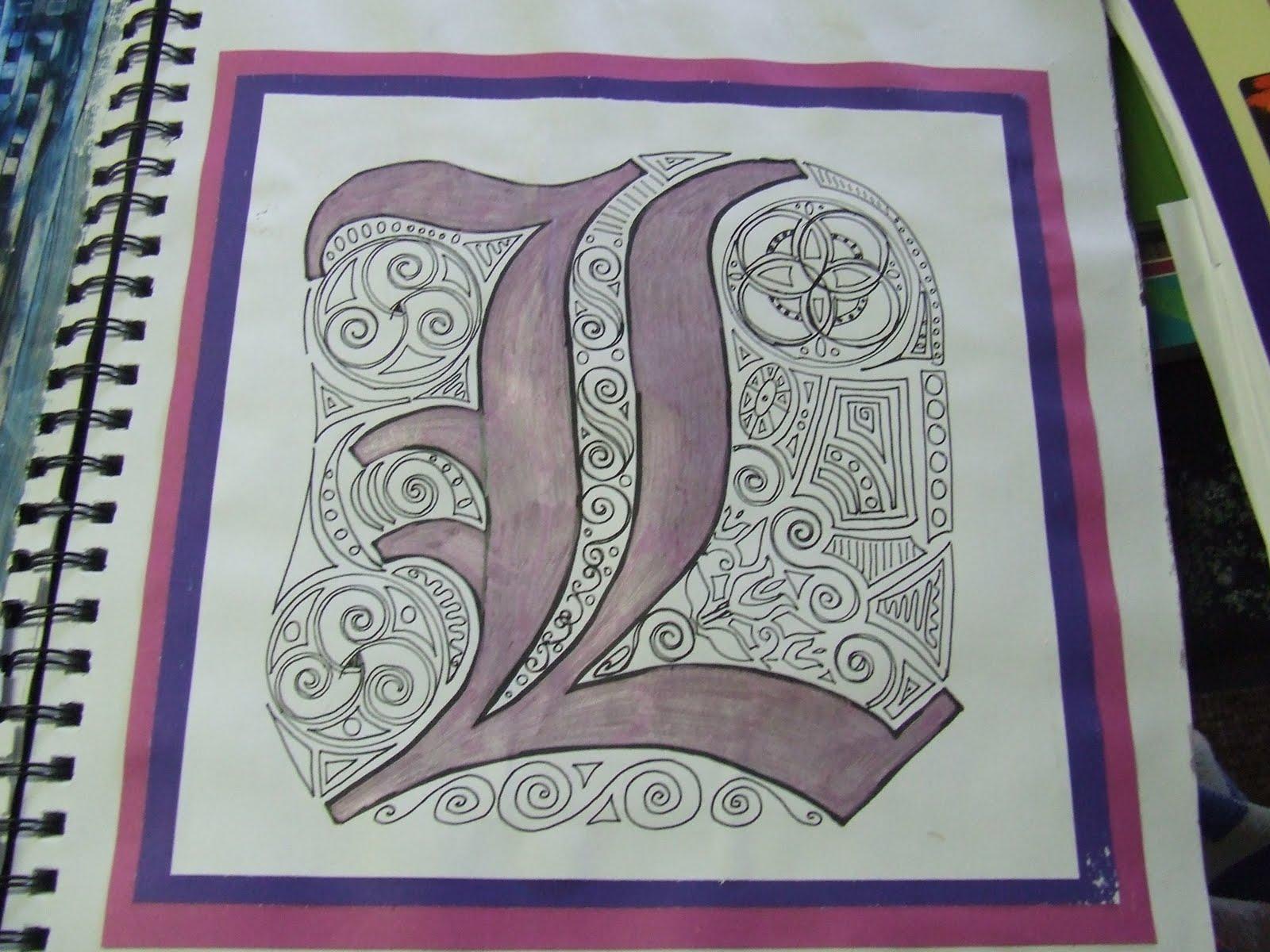 Illuminated letters- Book of Kells