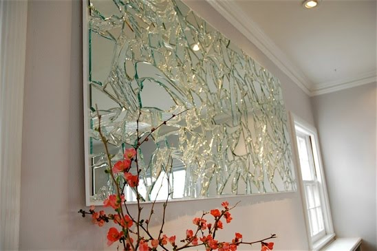 Someday Crafts: Stunning Broken Mirror Wall Art!!!