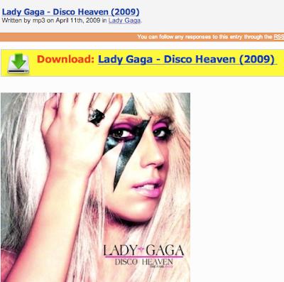 iAntiVirus Blog: Lady Gaga's Latest Album leads to Malware Download