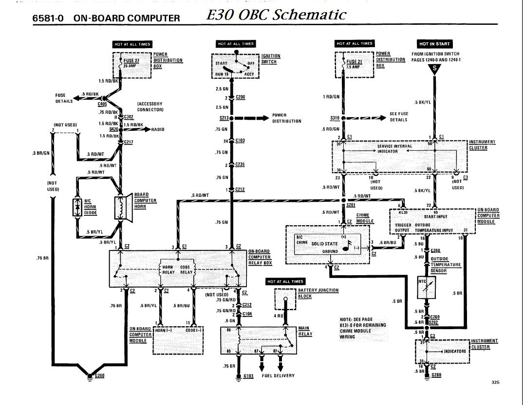 bmw e30 cluster wiring diagrams