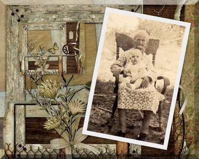 Mary Annie (Mollie) West Nettles (1852-1939) and her great-granddaughter, Mary Beth (daughter of Miss Ruby), ca. 1938