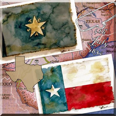 Original Texas flag art by www.breedenart.com