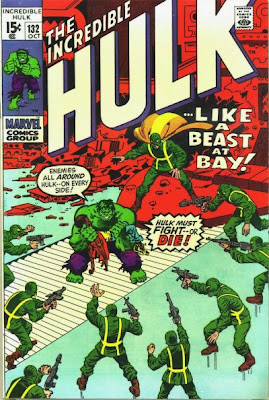 Incredible Hulk #132, against the hordes of Hydra