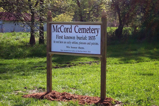 Restore Mccord Sign Installed Cemetery