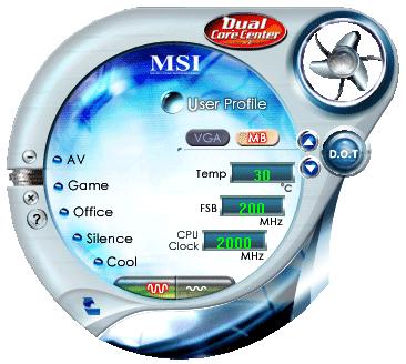 msi dualcorecenter875 MSI: Dual CoreCenter 2.0.51