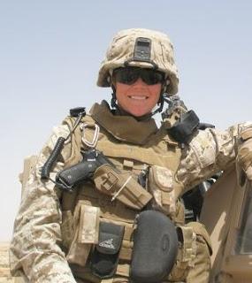 Emily Naslund in Iraq