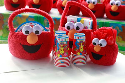 Elmo birthday party - fun ideas, elmo party favors, elmo visors