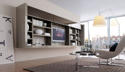 Modern Furniture Modern Living Room Wall Units For Book Storage