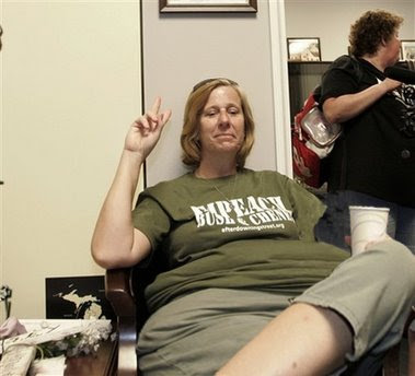 Media Whore Cindy Sheehan is still fasting