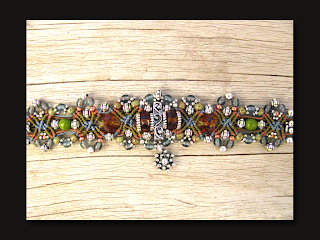 The Beading Yogini Cottonwood Canyon Micro Macrame Bracelet