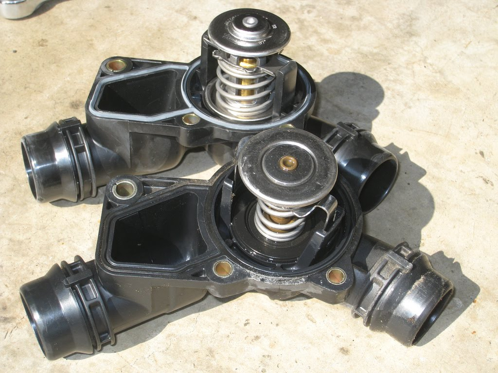 shadetree mechanic bmw thermostat replacement e46. Black Bedroom Furniture Sets. Home Design Ideas