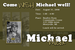 military going away party invitation perilight graphics