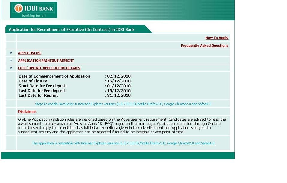 idbi Job Application Form For Executives on part time, blank generic, free generic,