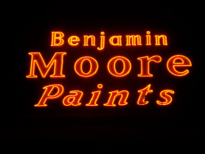 benjamin moore paints sign denver