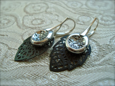 shoutrinse earrings ezel findings silver