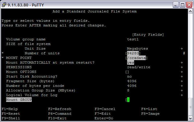 MySandbox: fshop_make: 0506-252 A file system with nbpi
