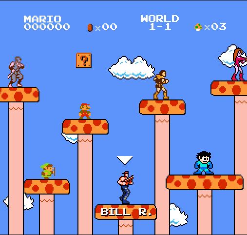 8-bit Games: Super Mario Bros  Crossover [Flash]