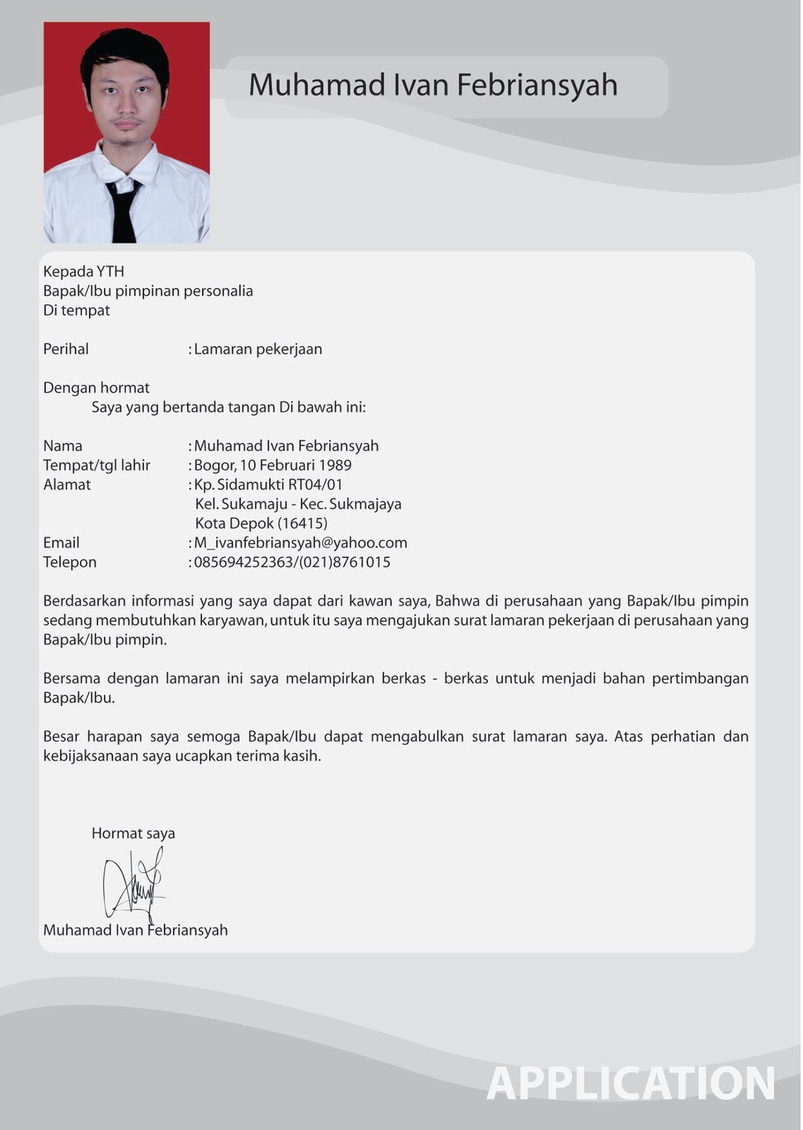 Contoh Curriculum Vitae Singkat Dalam Bahasa  Download